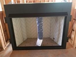 Fireplace insert install